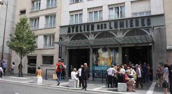 Entrée de l'Atelier des Lumières - Paris 2018