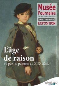 Affiche de l'exposition L'âge de raison- Vu par les peintres au XIXe siècle - Musée Fournaise - Chatou 2018