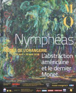 Affiche de l'exposition Nymphéas.