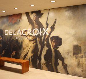 affiche de l'exposition Delacroix au Louvre