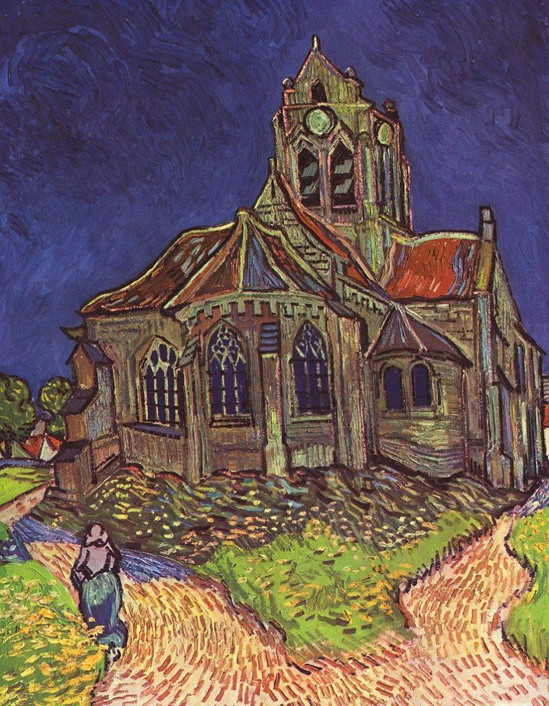 L'église d'Auvers, par Vincent Van Gogh.