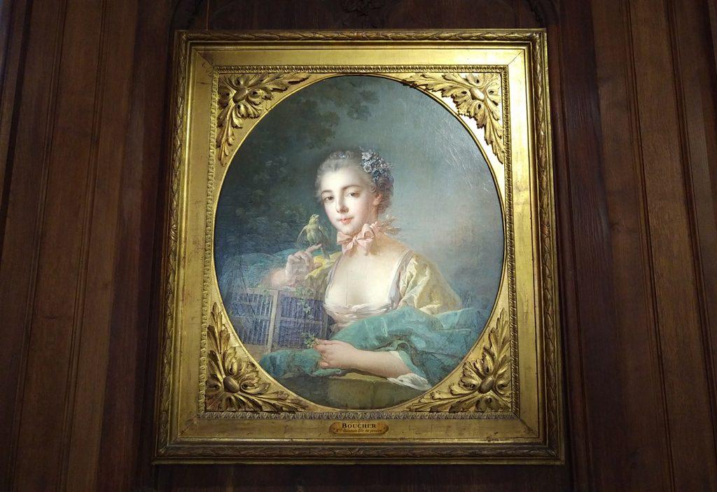 Il s'agit d'une peinture du 18e, typique de l'art français.