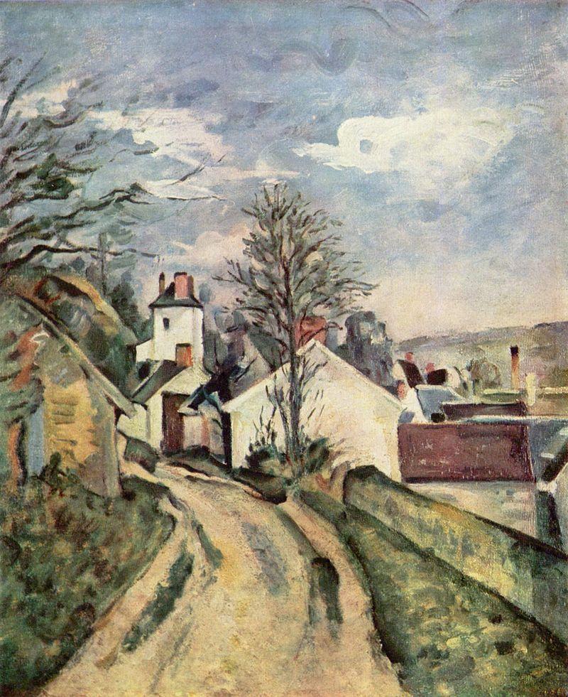 Paul Cézanne, La Maison du docteur Gachet, peinte en 1873, conservée au musée d'Orsay