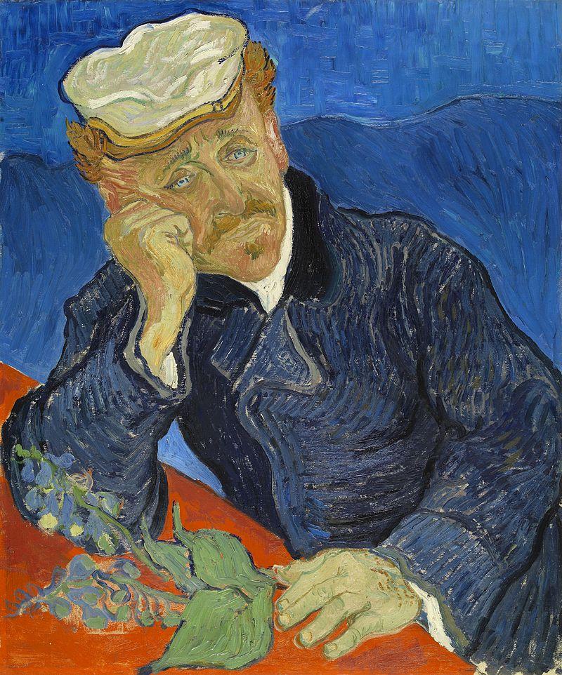 Vincent van Gogh, Portrait du docteur Gachet avec branche de digitale, peinte en 1890, et conservée au musée d'Orsay