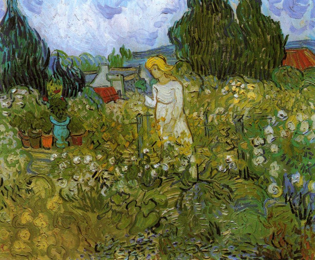 Vincent van Gogh, Mademoiselle Gachet dans son jardin à Auvers-sur-Oise, peint en 1890, et conservé au musée d'Orsay.
