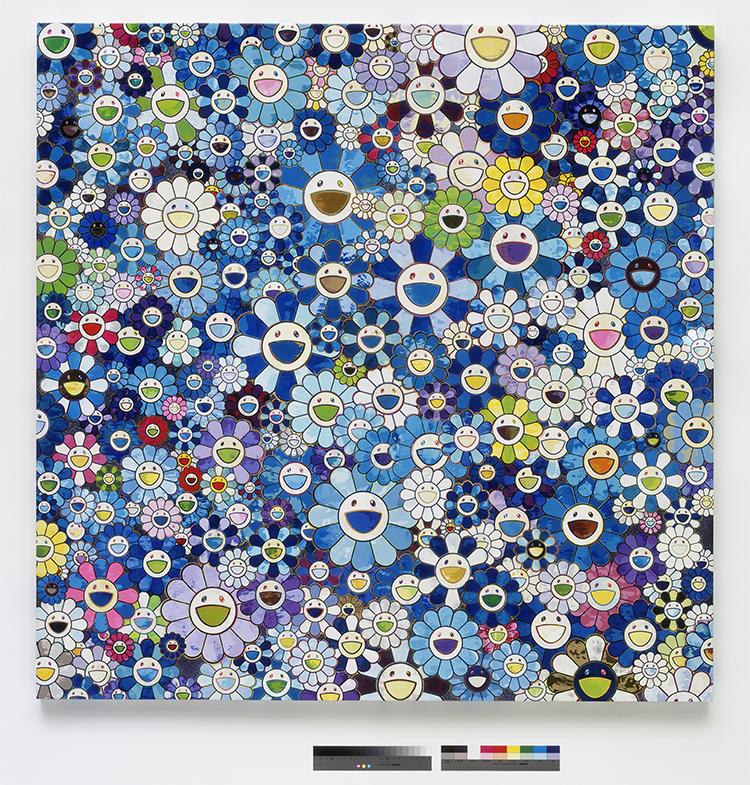 Il s'agit des fleurs pop de Murakami : les fleurs sourient au spectateur.