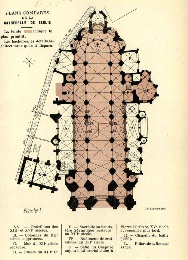 Plan de la cathédrale