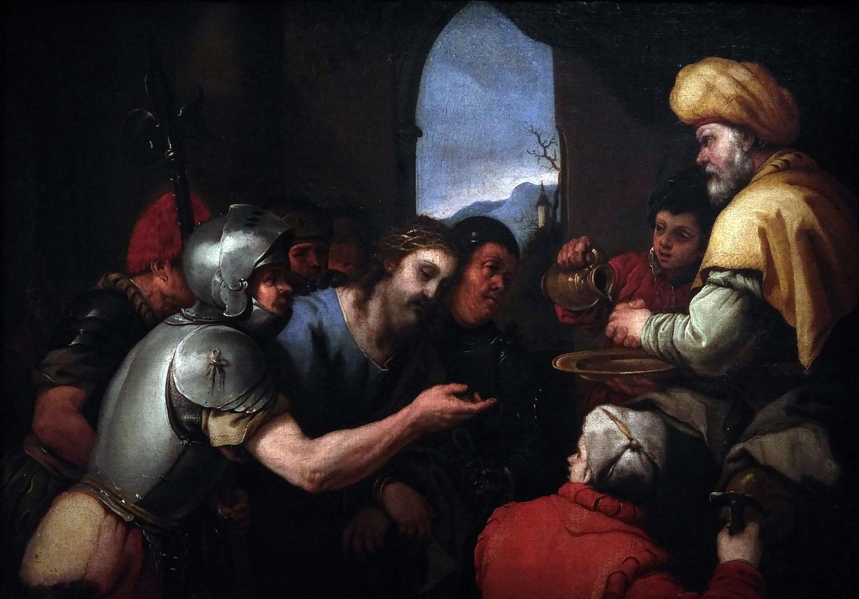tableau de Giordano représentant le Christ devant Pilate