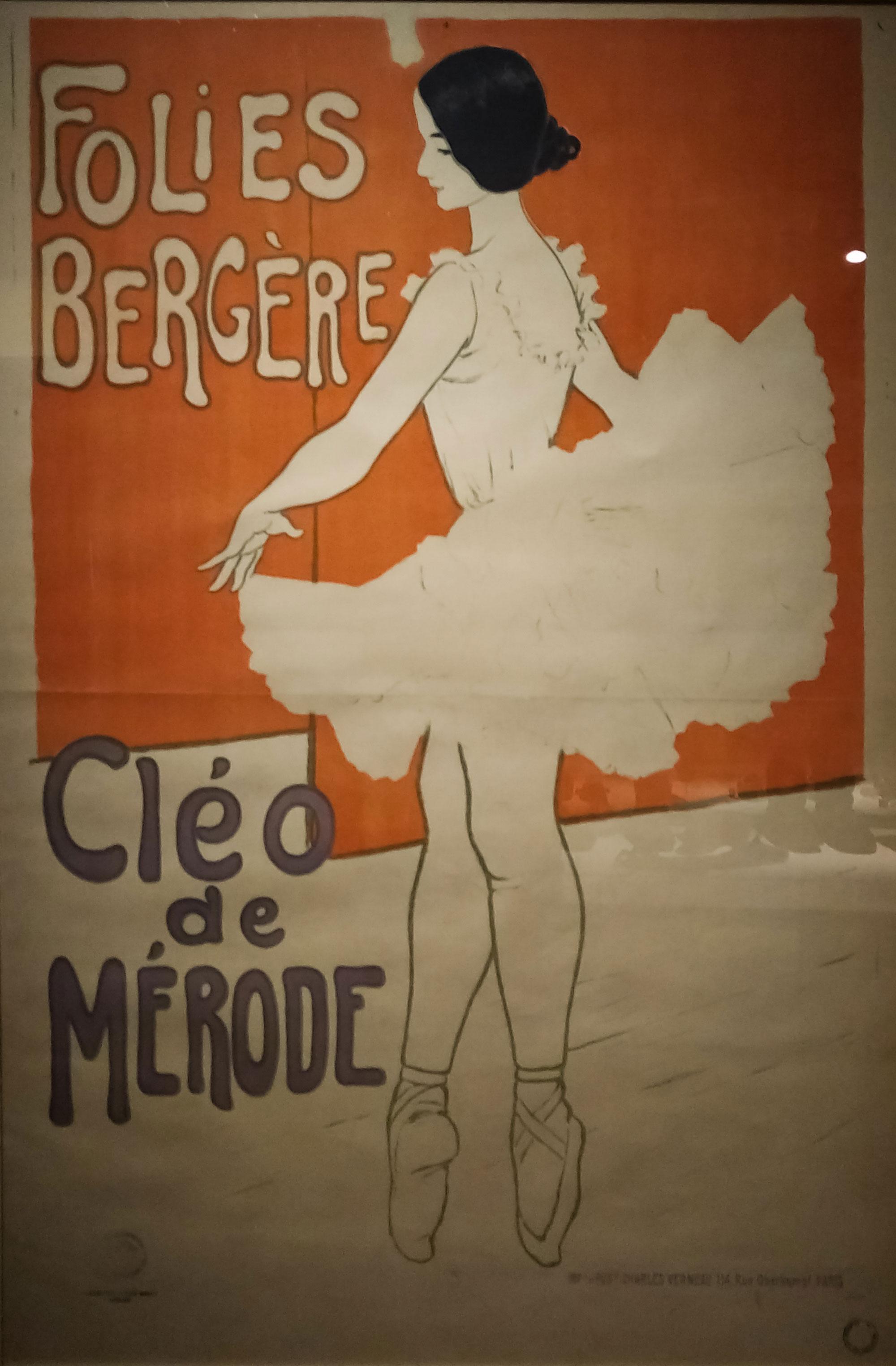affiche montrant une danseuse