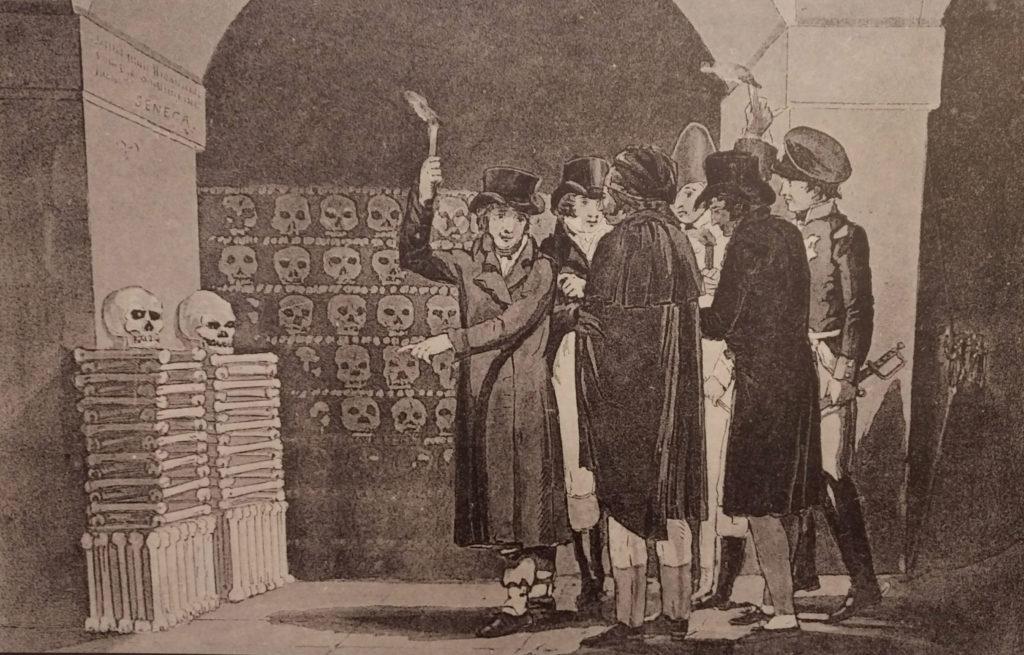 Visite aux catacombes en 1822
